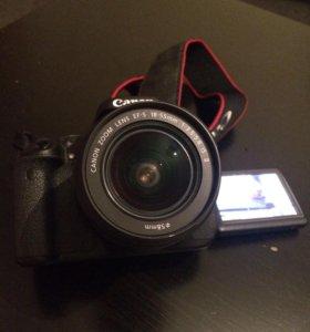 Фотоаппарат Canon 600d kit 18-55 mm