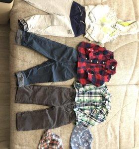 Вещи пакетом для мальчика р.86