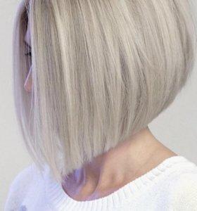 Окрашивание волос , стрижки ,укладки