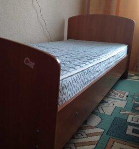 Кровать 🛏 80*200 односпальная + матрас