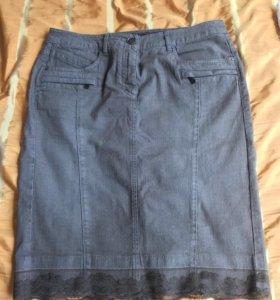 Итальянская джинсовая юбка в стиле casual