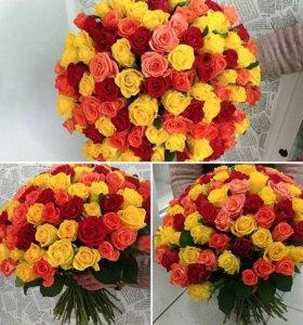 Цветы, розы с тепличного комбината