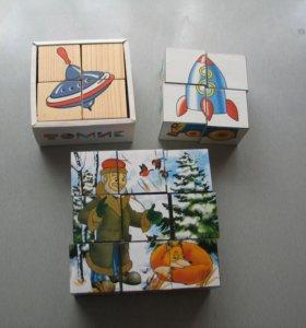 Кубики. 3 набора