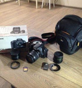 Canon Eos 500D 18-55 KIT+fish-eye+helios