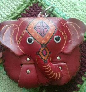 Кожаный кошелек из Геденжика