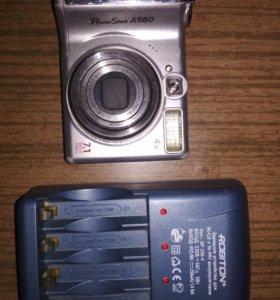 Цифровой фотоаппарат Canon A560 с зарядным