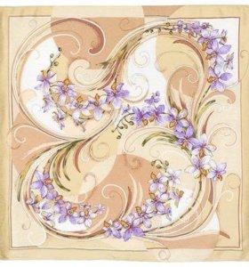 """Шелковый платок """"Танцующие орхидеи""""."""