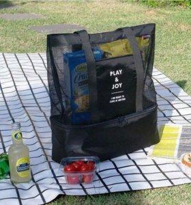 НОВАЯ Пляжная термо-сумка