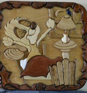 "Картины из дерева в стиле ""интарсия"""