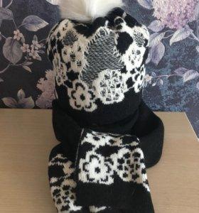 Шапка и шарф ( комплект)