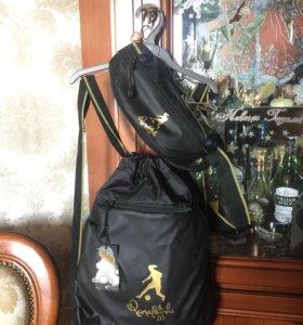 Спортивная сумка рюкзак через плечо и на пояс