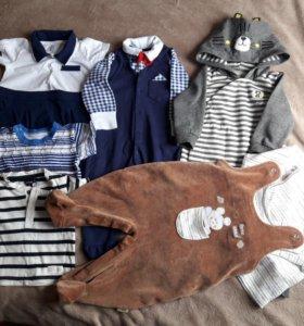 Пакет вещей для мальчика 3-9 мес.
