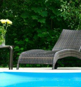 Кресло-шезлонг из ротанга MONACO (лежак складной)
