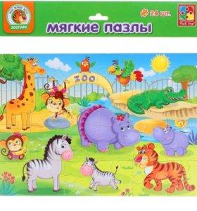 """Мягкие пазлы """"Зоопарк"""" 24 элемента"""