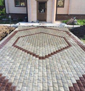 Укладка Тротуарные плитки