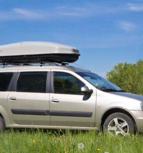 Автобокс Antares Yuago 580 литров Серый