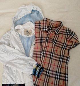 Burberry Ветровка+блузка