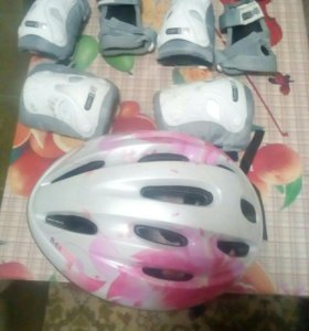 Шлем,налокотники, наколенники, наладонники