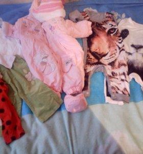 Вещи для девочки 6-12 месяцев пакетом