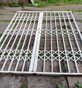 Ворота металлические жалюзи раздвижные
