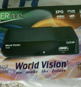 Т2 приставка World Vision t63m