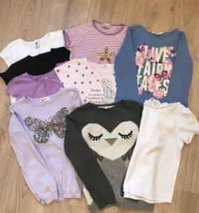 Пакет вещей для девочки. Футболки, кофты, джинсы.
