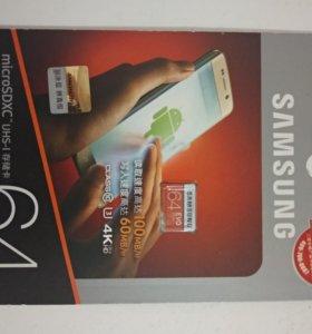 microSD 64 Gb Samsung