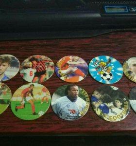 Редкие, коллекционные футбольные фишки