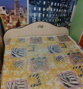Кровать 2местая с матрасом на железной основе