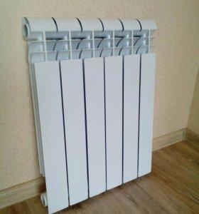 Радиатор отопления алюминиевый 6 секций