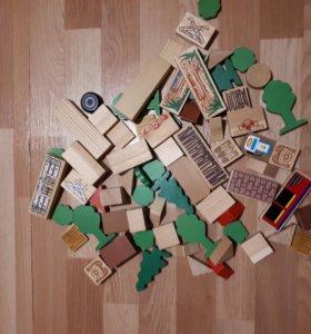 Игрушки. Деревянные наборы, 4 сказки.