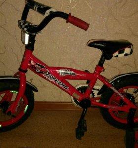 Велосипед детский Stern с ручкой и колёсиками