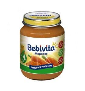 Пюре детское Bebivita морковь