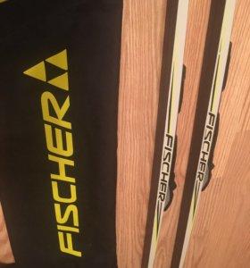 Беговые лыжи Fischer187 для конька,чехол,крепления