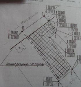 участок земельный под строительство