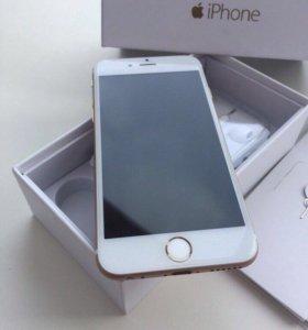 Продам золотой айфон 6 на 16 GB