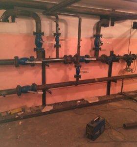 Монтаж отопления, сантехники, металлоконструкций