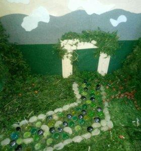 Сад для игр и фото