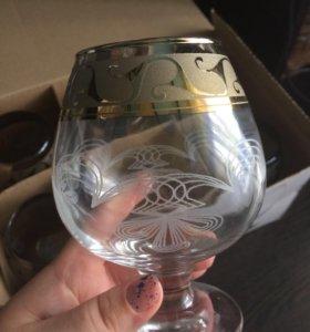 Набор бокалов для бренди, коньяка. НОВЫЕ