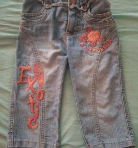 Бриджи джинсовые девочке