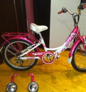 "Велосипед Stels pilot 230 6-speed, 20""розово-белый"