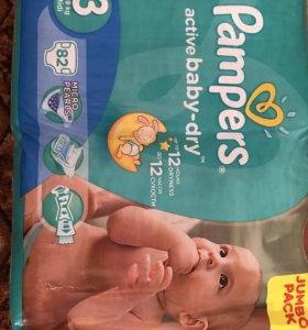 Подгузники детские фирмы Pampers от 4 до 9 кг