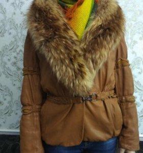 Куртка кожа и мех