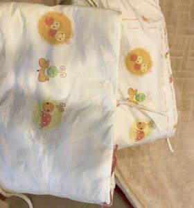 Бортики в кровать бампер для кроватки
