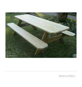 столы,лавочки,стулья,кровати,беседки.