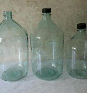 Стеклянные бутылки большие 20 л