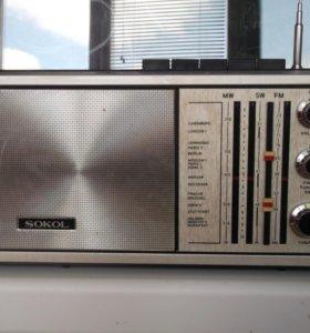 """Радиоприемник """"SOKOL """"  model 308 FM- AM"""