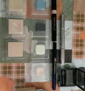 Косметика пакетом (тени, пудра,карандаш, консилер)