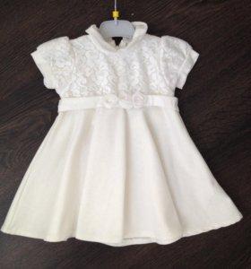 Трикотажное платье на девочку от 1-1,5 года