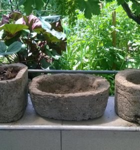 Садовые вазоны из дикого камня-гипертуфа